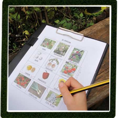How to use the garden for a spanish lesson